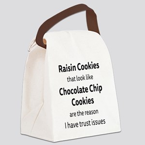 Raisin Cookies that look like Cho Canvas Lunch Bag