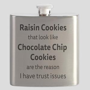 Raisin Cookies that look like Chocolate Chip Flask
