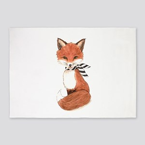 wild mr.fox 5'x7'Area Rug