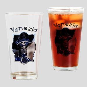 Blue Mask Drinking Glass