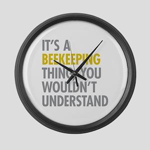 Its A Beekeeping Thing Large Wall Clock