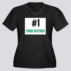 Number 1 TWIN SISTERS Women's Plus Size V-Neck Dar