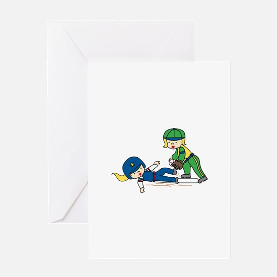 Girl Players Greeting Cards