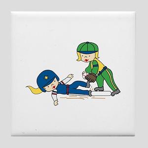 Girl Players Tile Coaster
