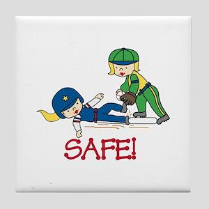 Safe! Tile Coaster