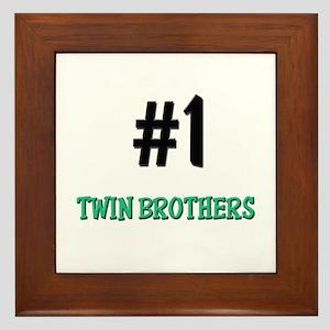 Number 1 TWIN BROTHERS Framed Tile