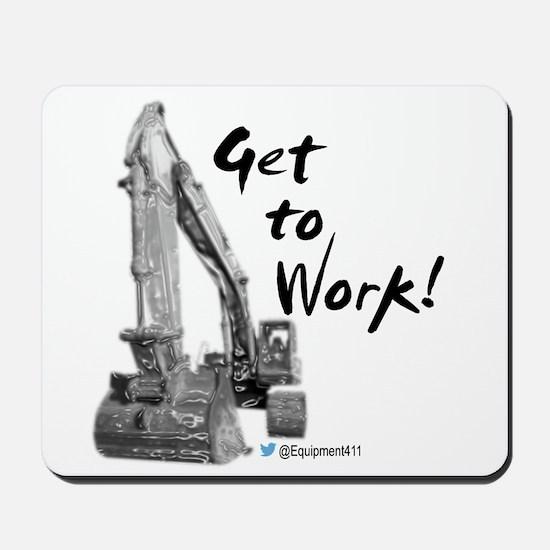 Excavator Operators Mousepad