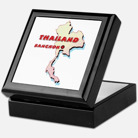 Thailand Map Keepsake Box