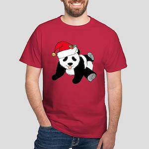 Christmas Panda Dark T-Shirt