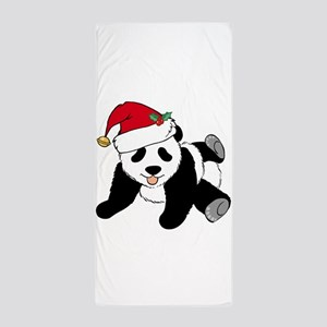 Christmas Panda Beach Towel