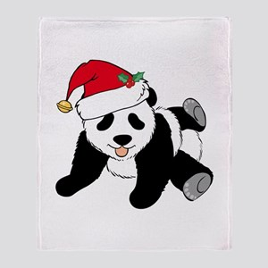 Christmas Panda Throw Blanket
