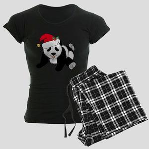 Christmas Panda Women's Dark Pajamas