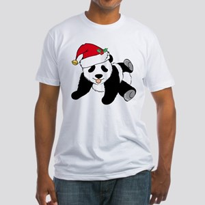 Christmas Panda Fitted T-Shirt