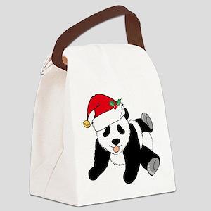 Christmas Panda Canvas Lunch Bag