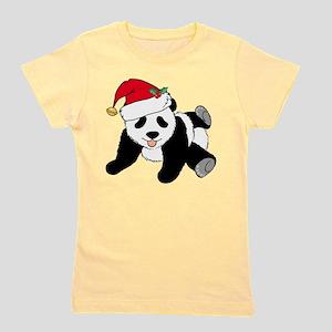 Christmas Panda Girl's Tee