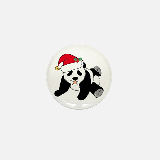 Christmas Panda Mini Button