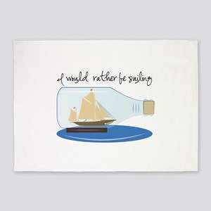 I Would Rather be Sailing 5'x7'Area Rug