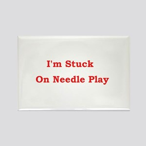 Stuck on Needle Play Rectangle Magnet