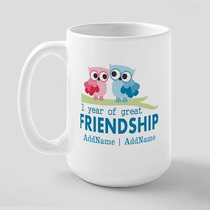 1st Anniversary Personalized Large Mug