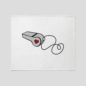 Heart Whistle Throw Blanket