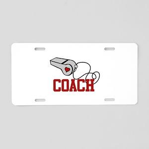 Coach Whistle Aluminum License Plate