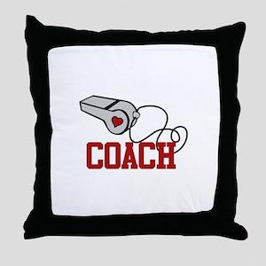 Coach Whistle Throw Pillow