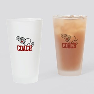 Coach Whistle Drinking Glass
