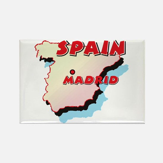 Spain Map Rectangle Magnet