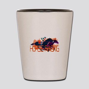 Horse Racing Shot Glass