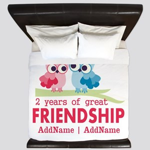Gift For 2nd Anniversary Personalized King Duvet