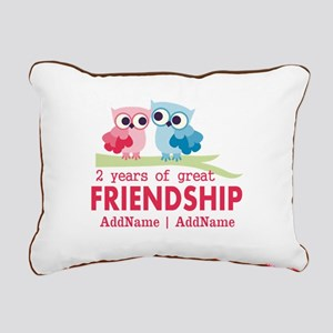 Gift For 2nd Anniversary Rectangular Canvas Pillow