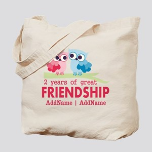 Gift For 2nd Anniversary Personalized Tote Bag