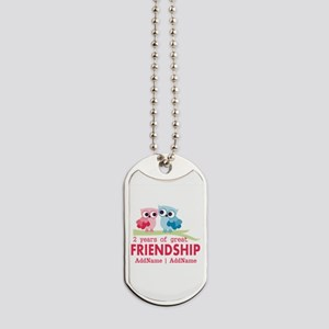 Gift For 2nd Anniversary Personalized Dog Tags