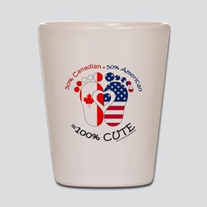 Canadian American Baby Shot Glass