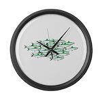 Sardines Large Wall Clock