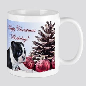 Happy Christmas Birthday Boston Mugs