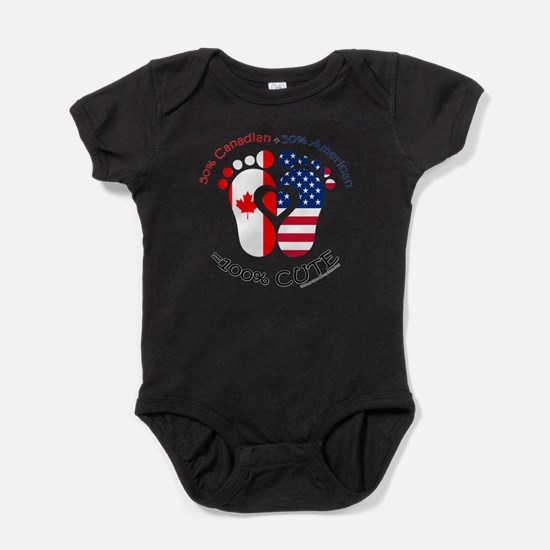 Canadian baby clothes cafepress canadian american baby baby bodysuit negle Choice Image