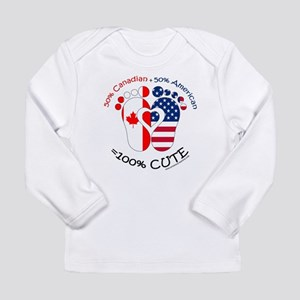 Canadian American Baby Long Sleeve Infant T-Shirt