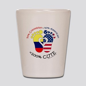 Colombian American Baby Shot Glass