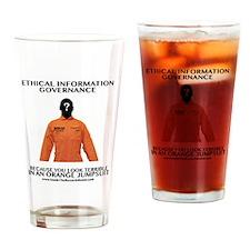 Orange Jump Suit Drinking Glass