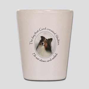 Creation of Shelties #1 Shot Glass