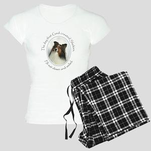 Creation of Shelties #1 Women's Light Pajamas