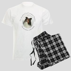 Creation of Shelties #1 Men's Light Pajamas