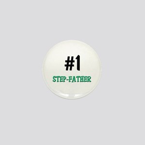 Number 1 STEP-FATHER Mini Button