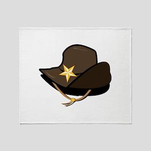 Cowboy Hat Throw Blanket