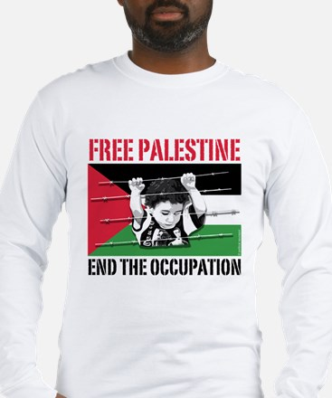 free palestine WHT Long Sleeve T-Shirt