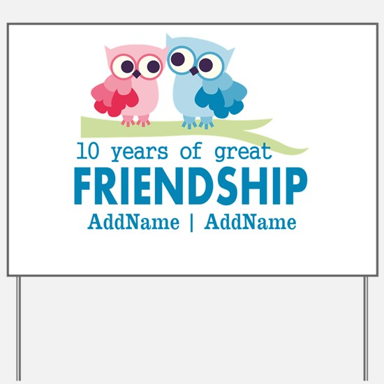 Gift For 10th Wedding Anniversary Yard Sign