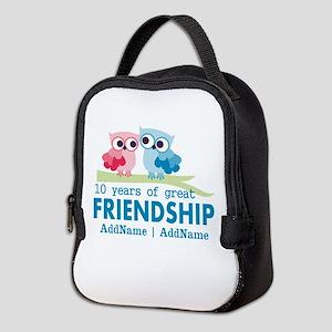 Gift For 10th Wedding Anniversa Neoprene Lunch Bag