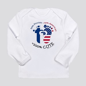 Finnish American Baby Long Sleeve Infant T-Shirt