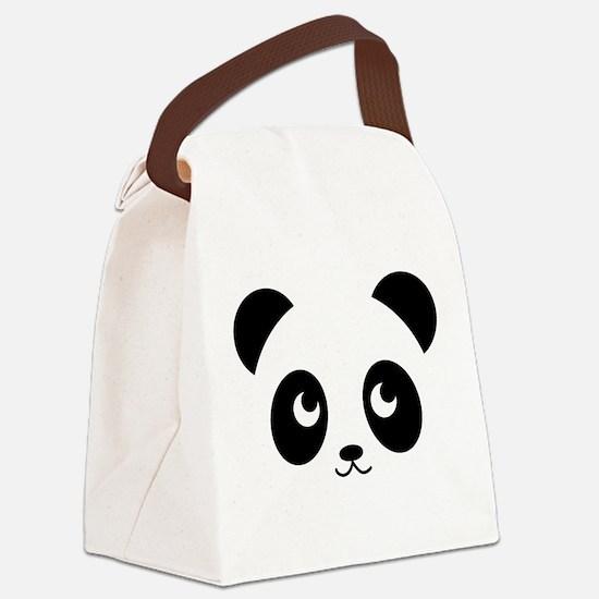 panda smile copy.png Canvas Lunch Bag